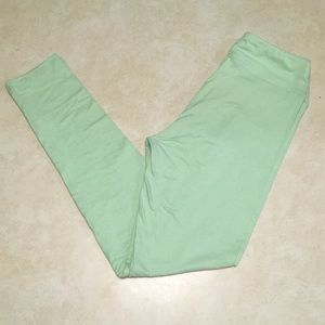 Lularoe Leggings - Mint Green Plain (One Size OS)